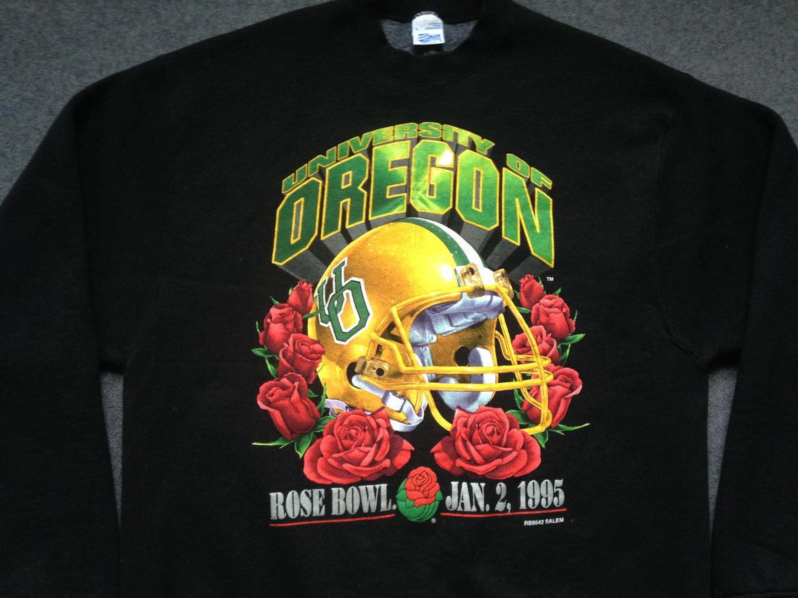 1995 Oregon Ducks Rose Bowl sweatshirt - XL