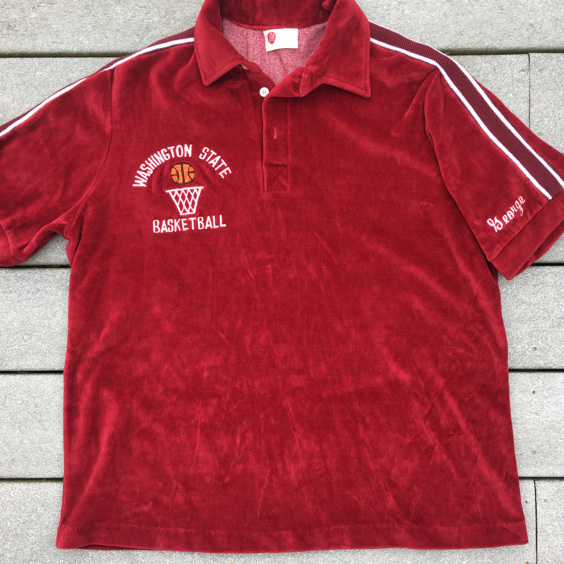 Vintage WSU Cougars velour shirt - XL