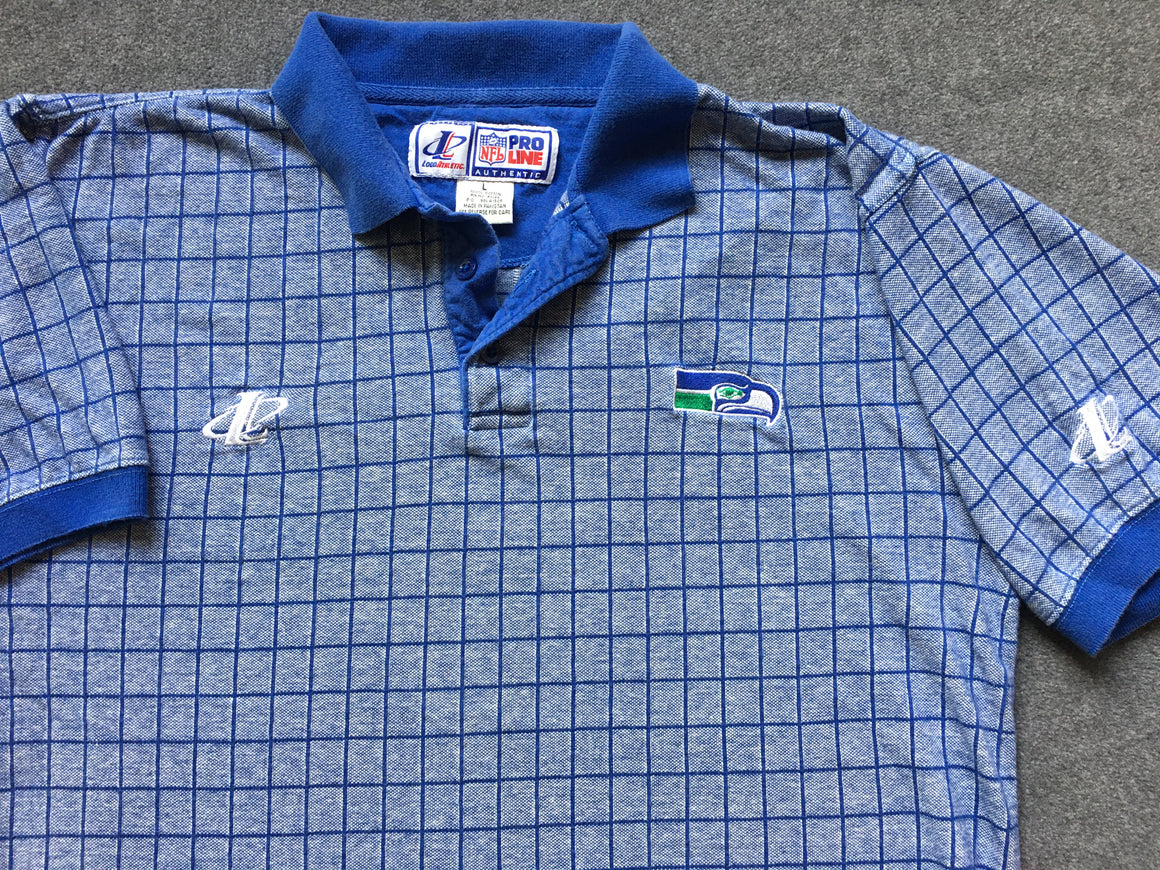 '90s Seattle Seahawks polo shirt - L