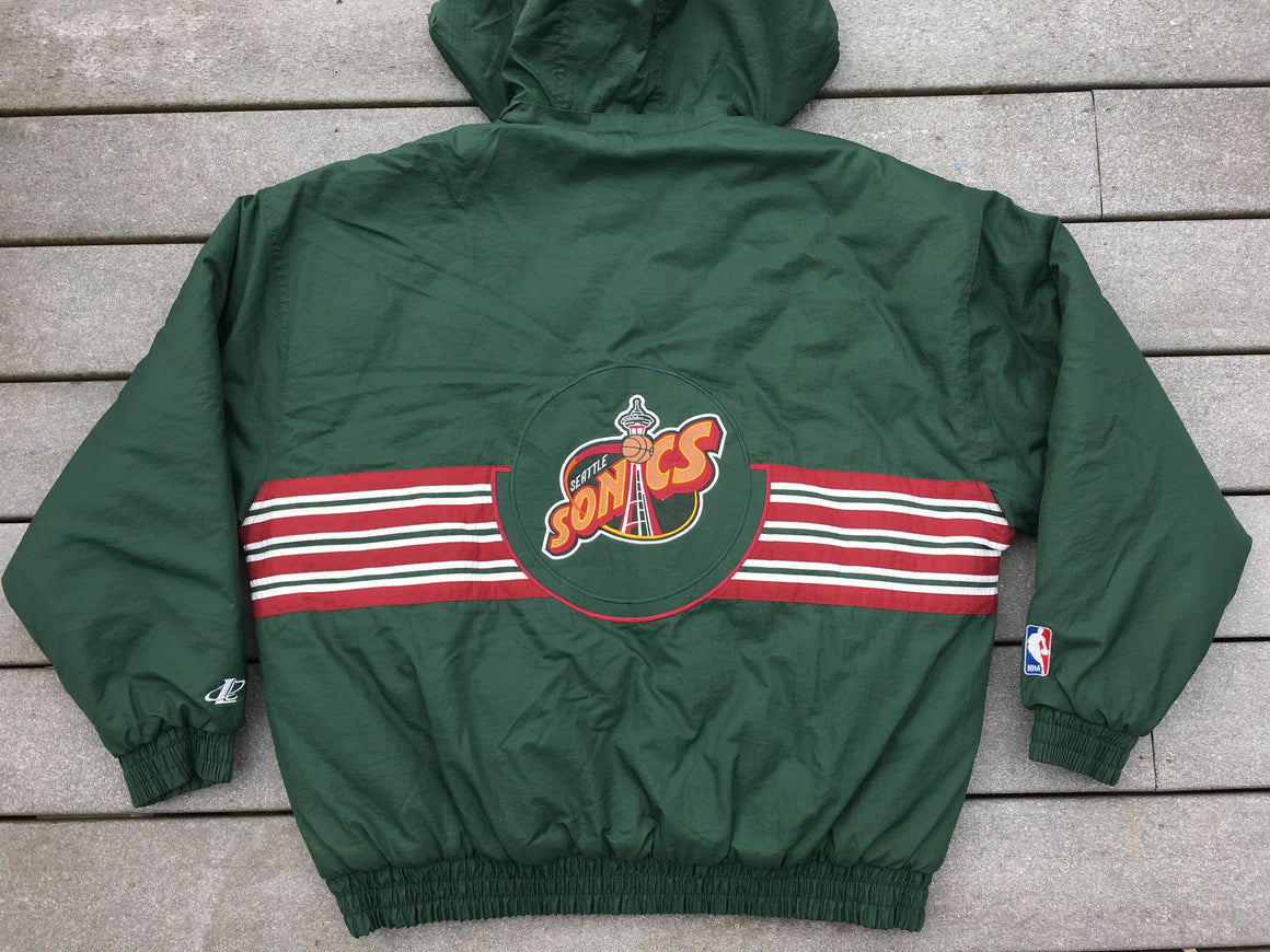 90s Seattle Supersonics puffer coat - XXL