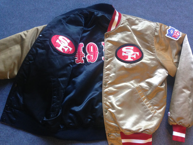 Vintage San Francisco 49ers REVERSIBLE satin jacket by Starter - L
