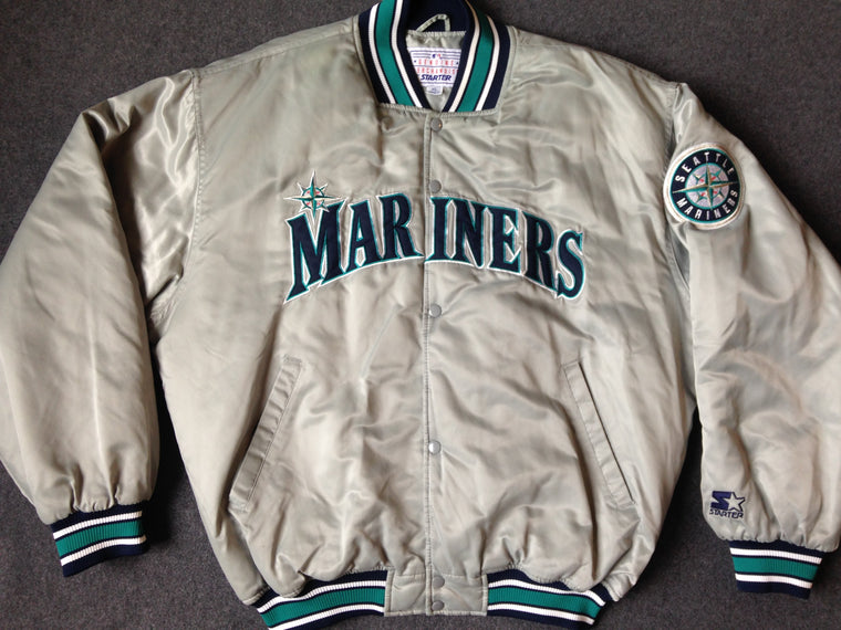 Vintage Seattle Mariners quilted satin jacket by Starter - XL