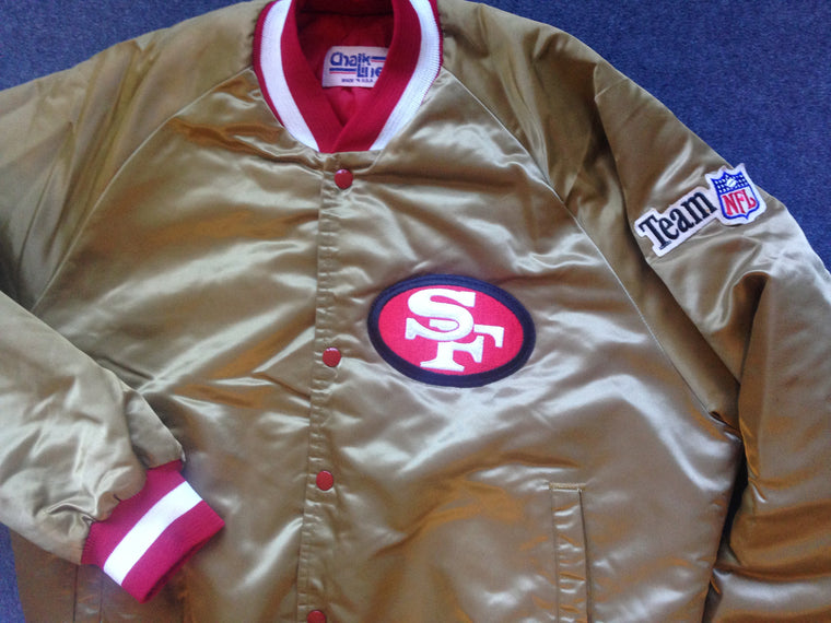 San Francisco 49ers satin jacket - L