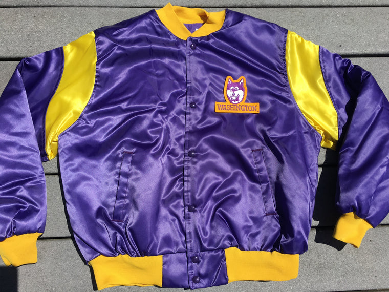 Vintage Washington Huskies satin jacket - L