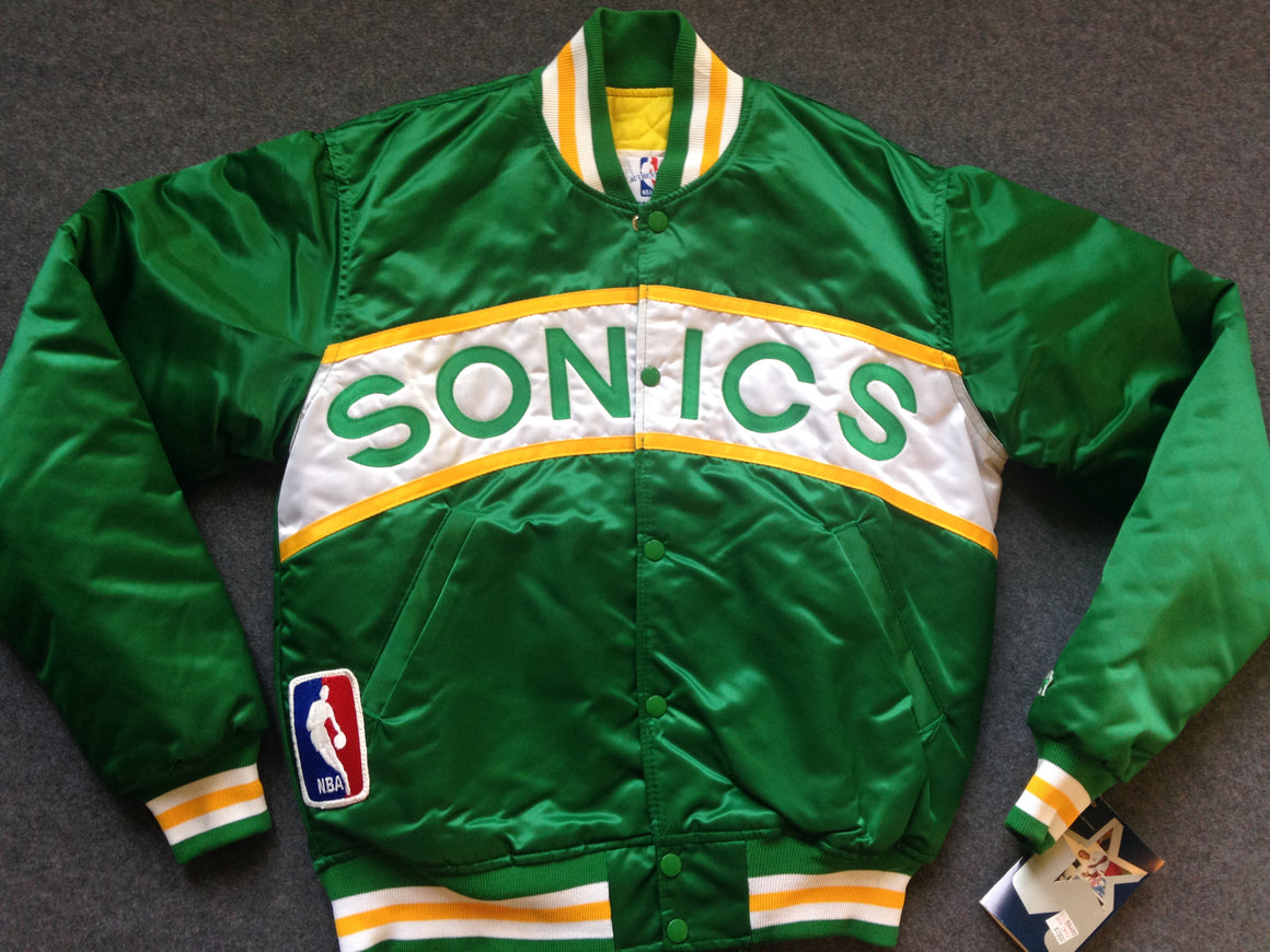 NEW WITH TAGS Seattle Supersonics STARTER SATIN jacket - M