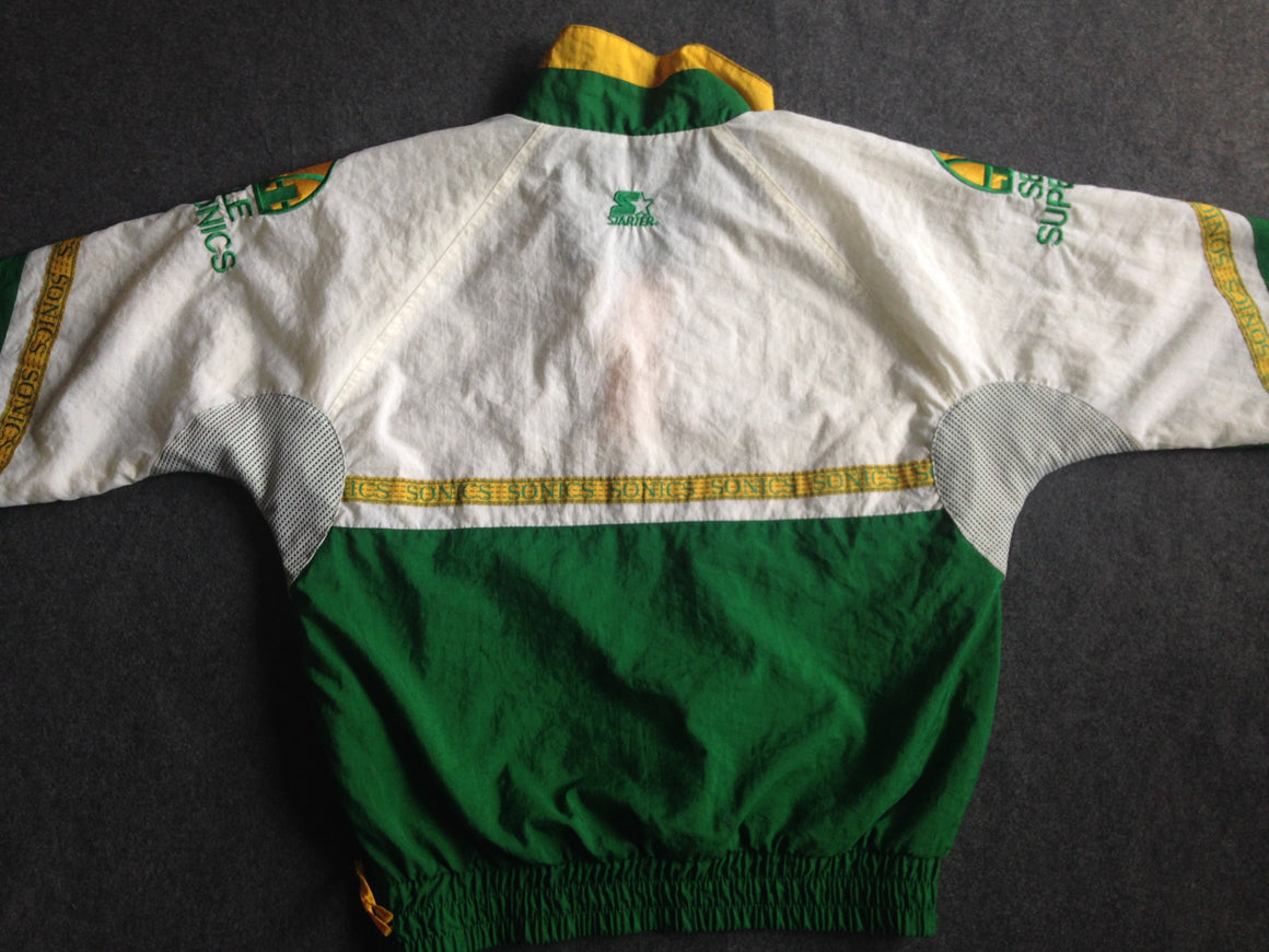Vintage RARE Seattle Supersonics pullover jacket by Starter - L