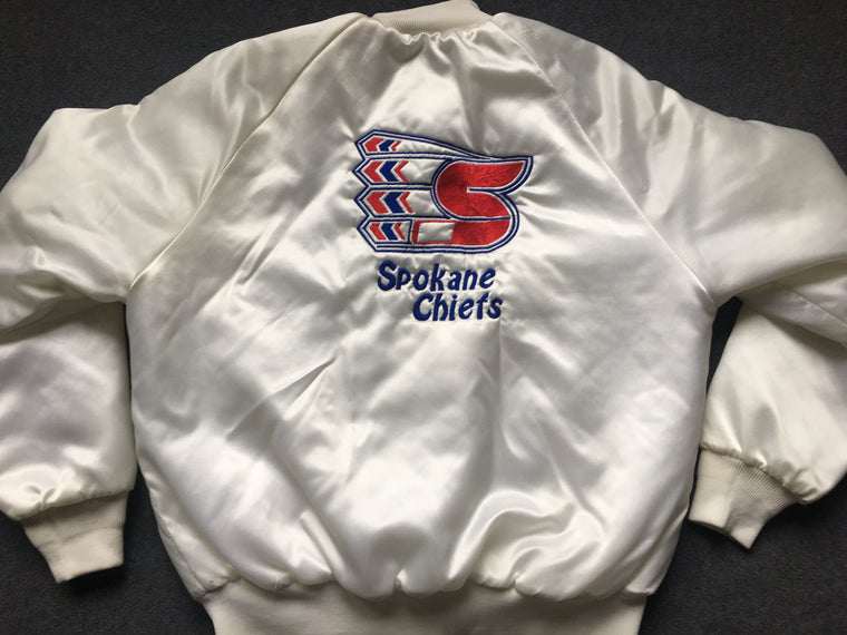 Vintage Spokane Chiefs hockey satin jacket - L