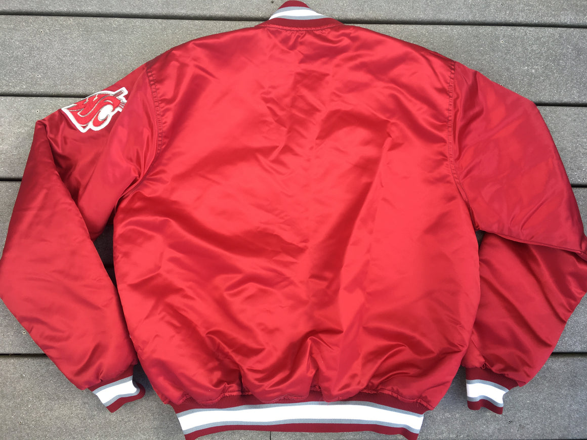 WSU Cougars satin jacket by Starter - L