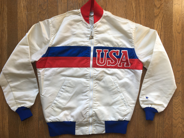 '80s USA satin jacket - M