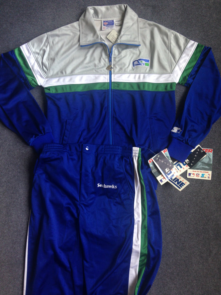 Vintage Seattle Seahawks track jacket & pants - M