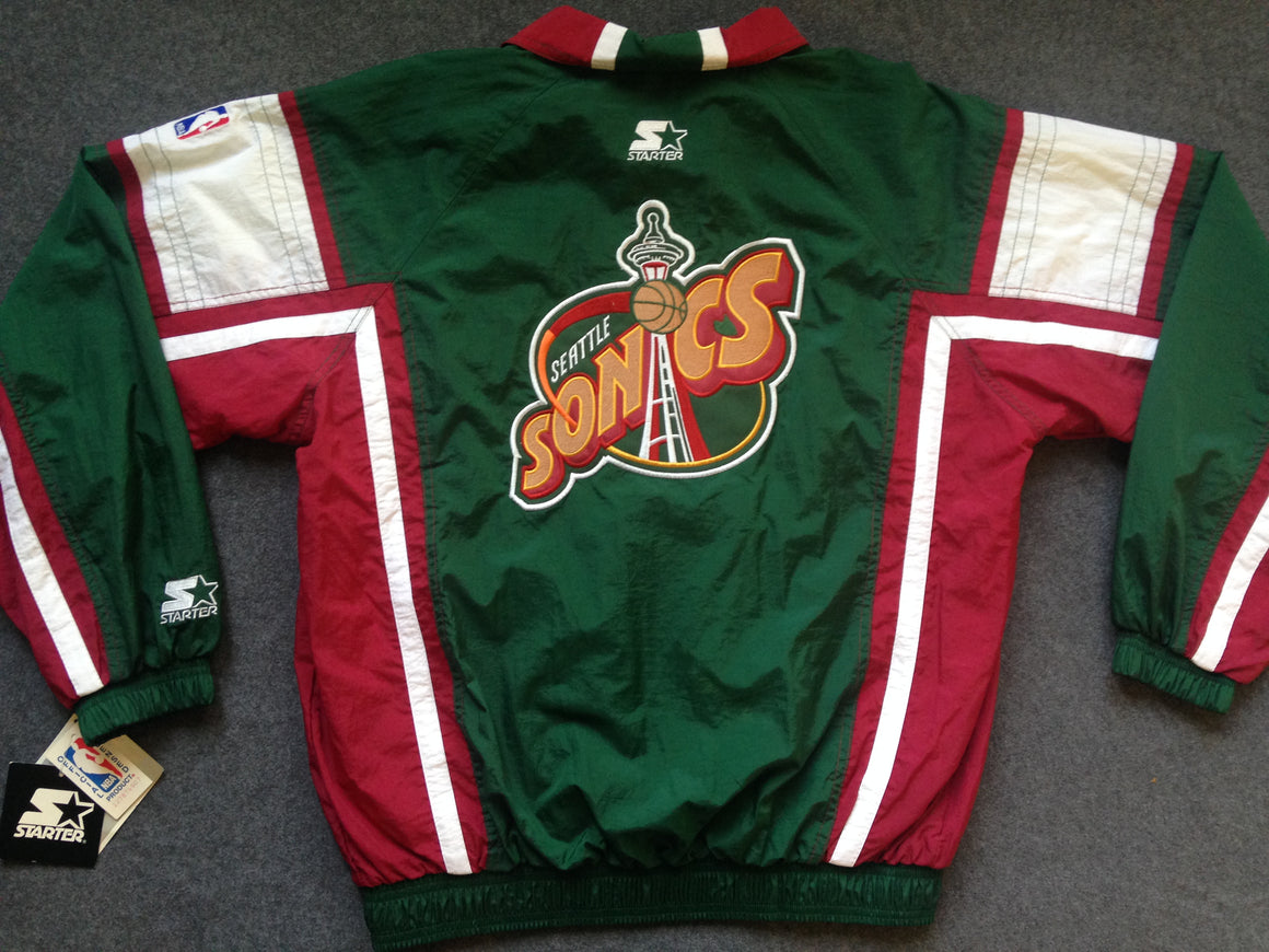 NEW WITH TAGS Seattle Supersonics jacket by Starter - M/L