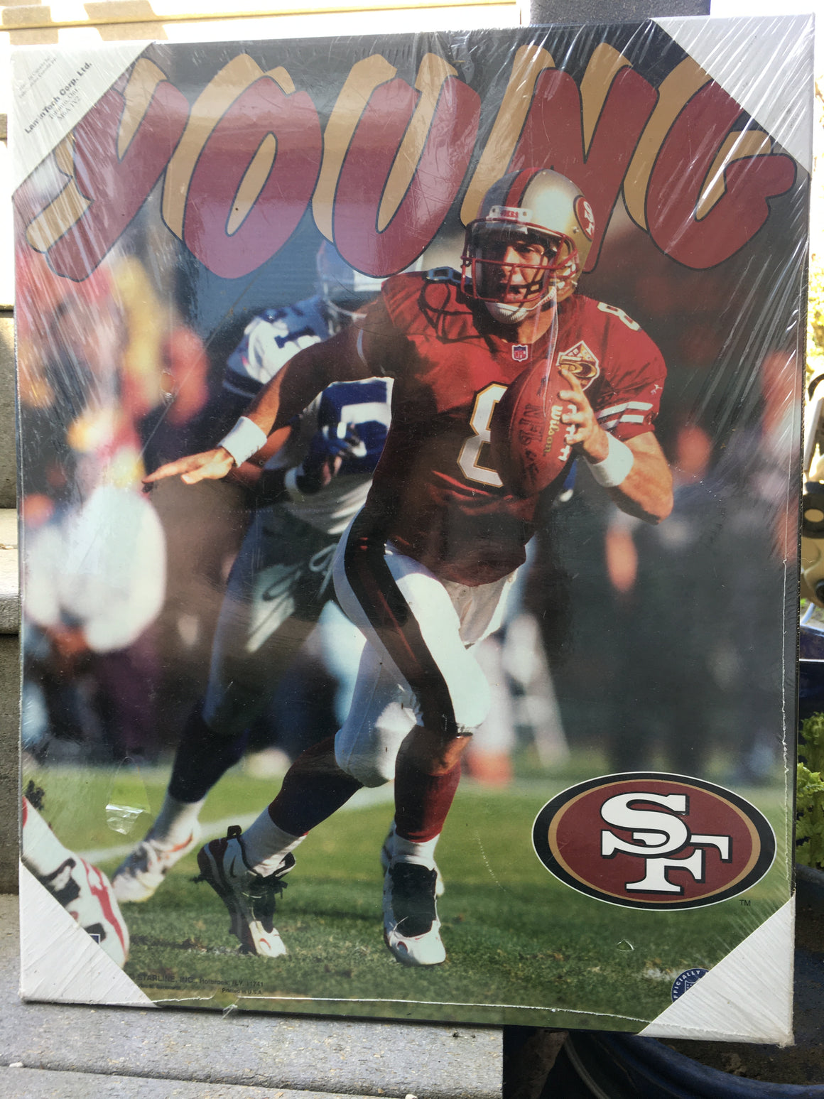 Steve Young San Francisco 49ers wood picture