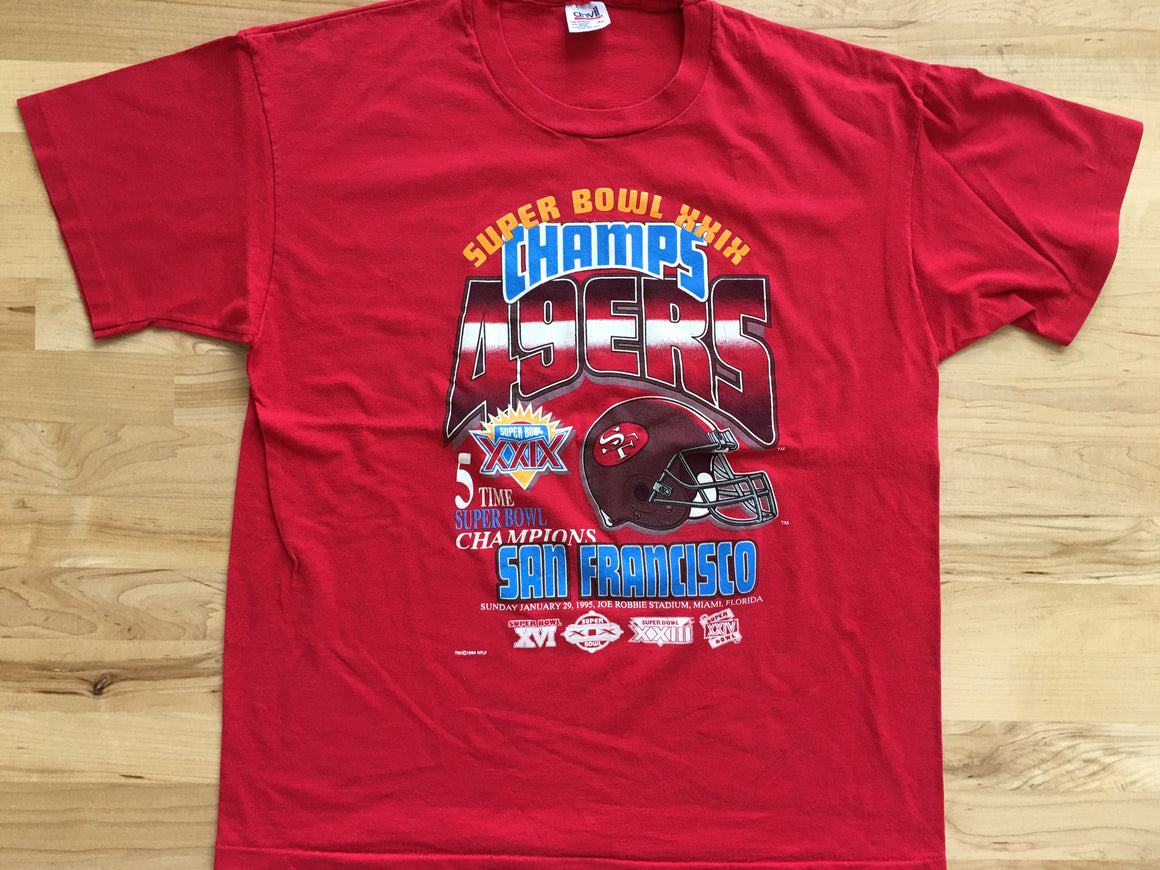 1995 San Francisco 49ers Super Bowl shirt - XL