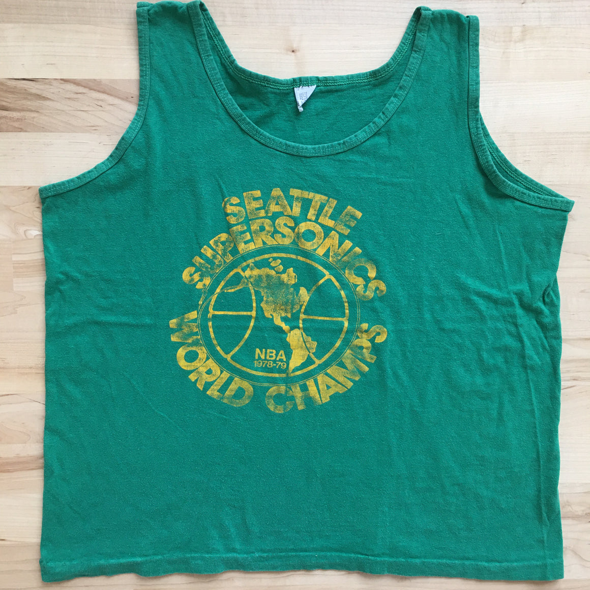 Seattle SuperSonics 1979 World Champs tank top - L