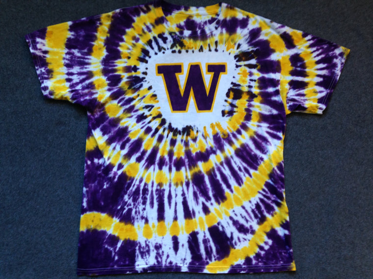 Washington Huskies tie dye t shirt - L