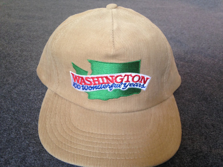1989 State of Washington centennial corduroy hat