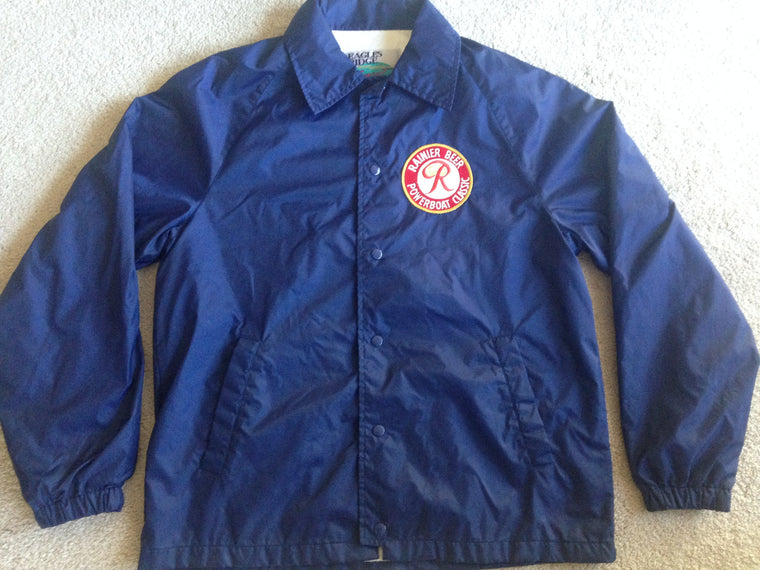 Vintage Rainier beer button-up windbreaker - M