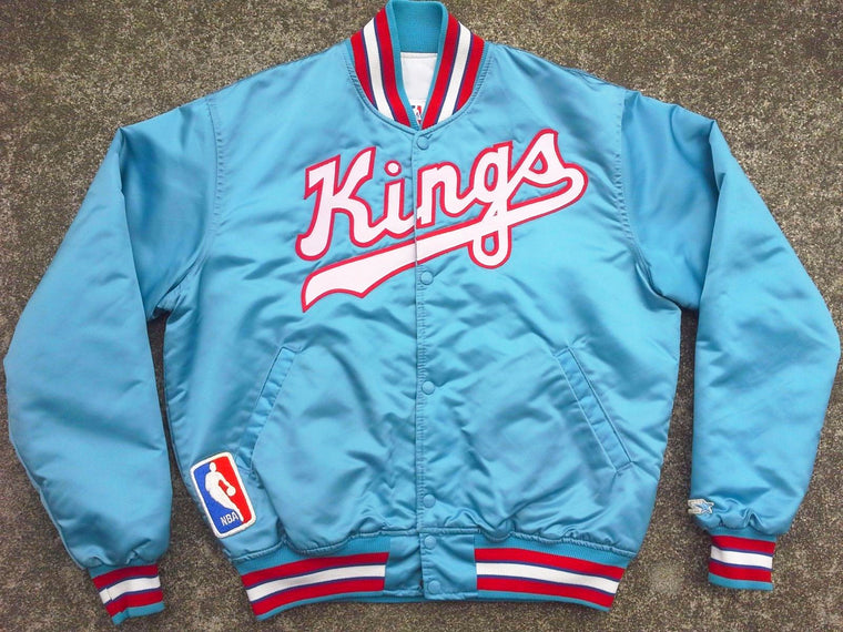Vintage MINT 80s Sacramento Kings Starter SATIN jacket - L