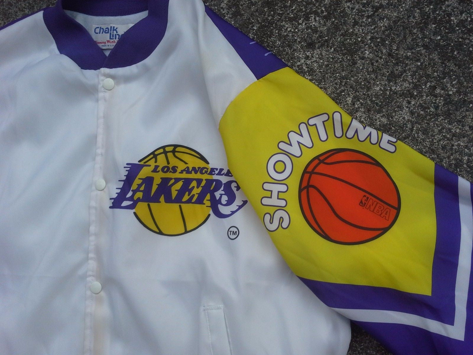 Vtg Los Angeles Lakers Fanimation Jacket By Chalk Line
