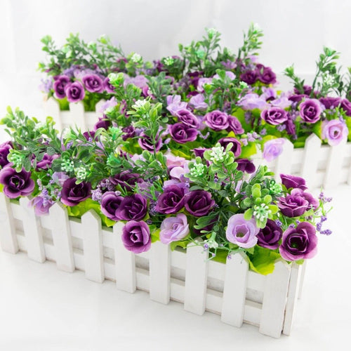 Floral Picket Box - Purple and Lilac