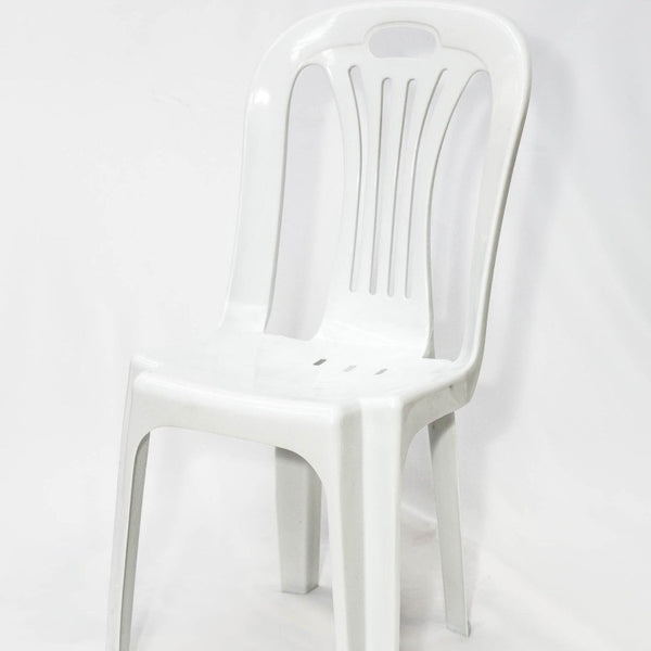 Plastic Bistro Chair - White