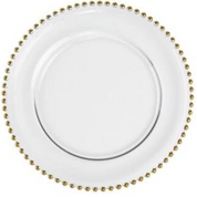 Charger Plate Gold Beaded - Hire