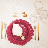 Exclusive Charger Plate Package - Burgundy Coral
