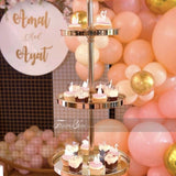 Cupcake Stand - Gold Mirror - 3 Tier