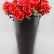 Black Tin Vase - Hire