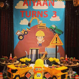 Party packages -construction theme
