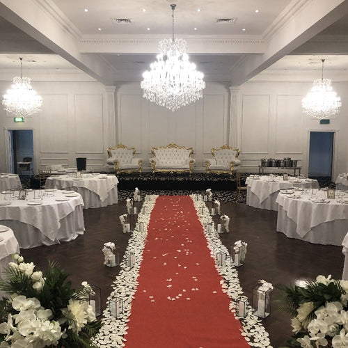 Petal Floor Runner - White