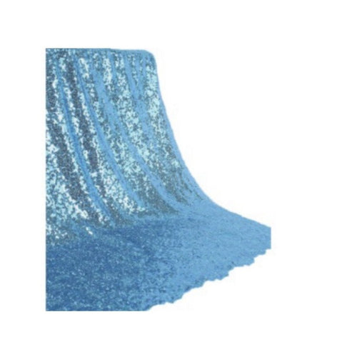 Backdrop Curtain - Baby Blue Sequin