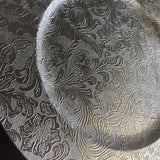Charger Plate - Silver Damask
