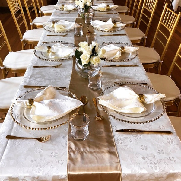 Table Runner - Gold satin