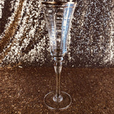 champagne  Glass - Gold Rim