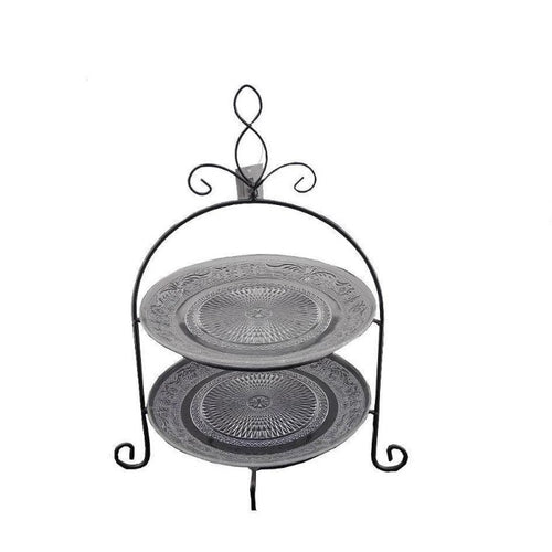 2 Tier Glass Stand - Round