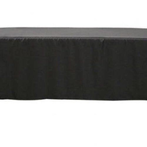 Fitted Table Skirting - Black