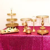 Gold cake table set 12pce - Hire