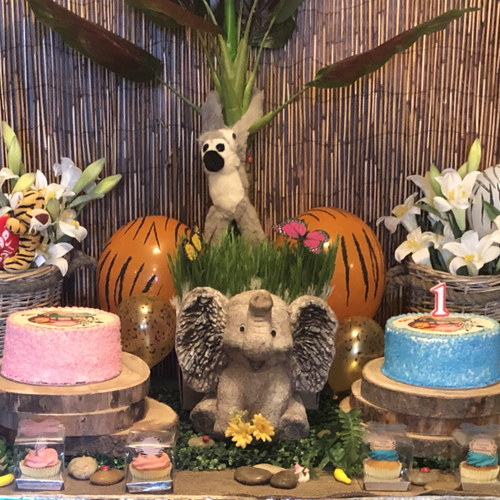 Jungle Theme - Cake Table