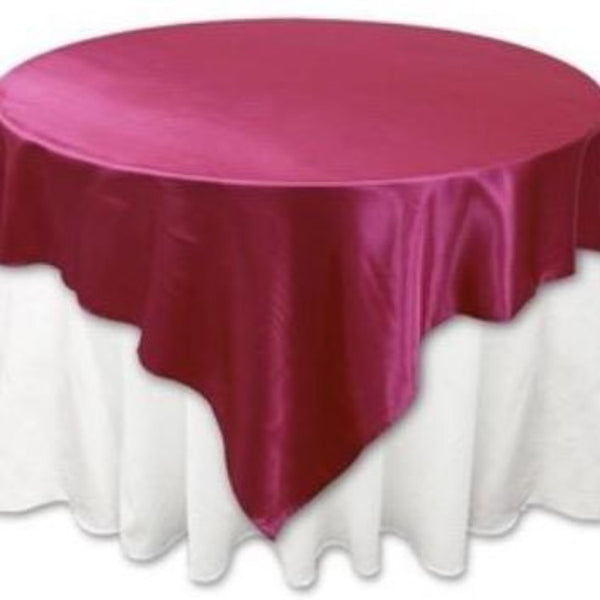 Round Table topper - Pink - Satin
