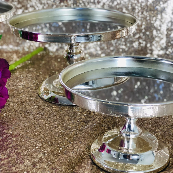 Cake Stand - Silver Mirror