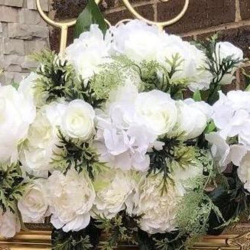 Floral diamond Arrangement - White