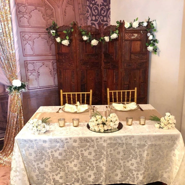 Rectangle Tablecloth - Floral Damask
