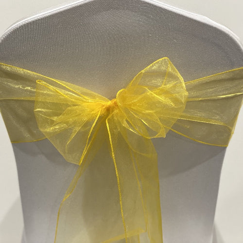Organza Sash - Yellow