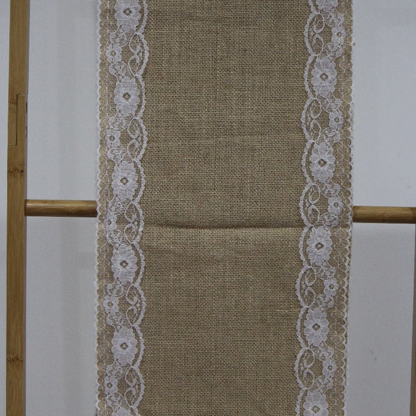 Table Runner - Burlap Lace