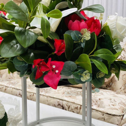 Floral Arrangement- Fuschia and Ivory