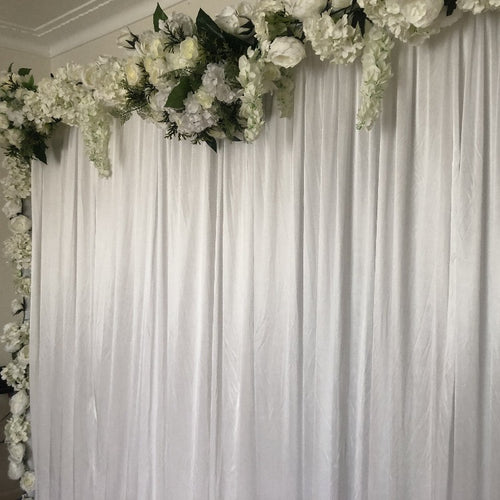 Backdrop Curtain - White Bloom