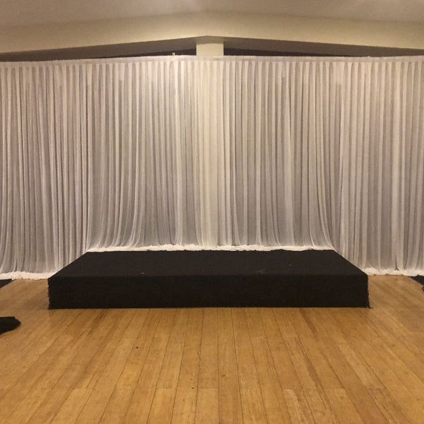Backdrop Curtain - Silk Ice
