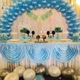 Table Swag Skirting - Baby Blue
