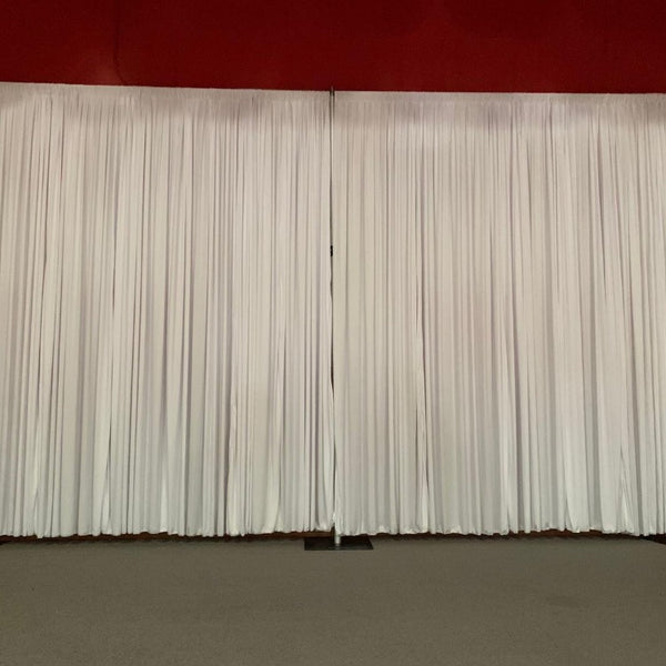 Backdrop Curtain - White Polyester